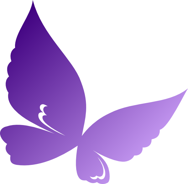 Purple Butterfly Scroll Clip Art At Clker Com: Gradient Purple Butterfly Clip Art At Clker.com