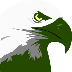 Dark Green Eagle  Clip Art