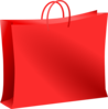Red Bag For Shopping. Bolsa Roja De Compras. Clip Art