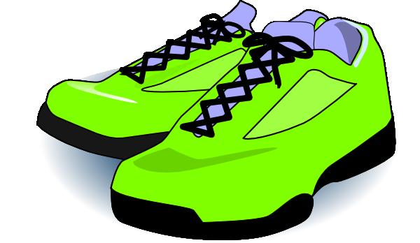 Neon Green Tennis Shoes Clip Art at Clker.com - vector clip art online ...