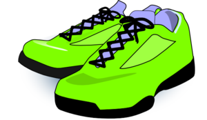 neon green tennis shoes clip art at clker com vector clip art rh clker com tennis shoe clipart free tennis shoe clip art black and white