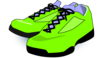 Neon Green Tennis Shoes Clip Art