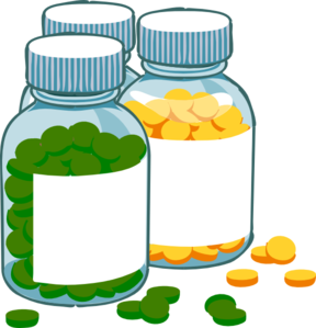Green And Yellow Tablets Clip Art