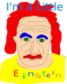 I M A Little Einstein Clip Art