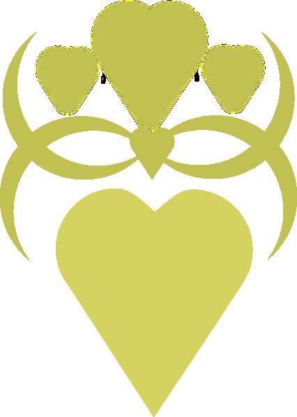 Golden Heart Clip Art At Clker