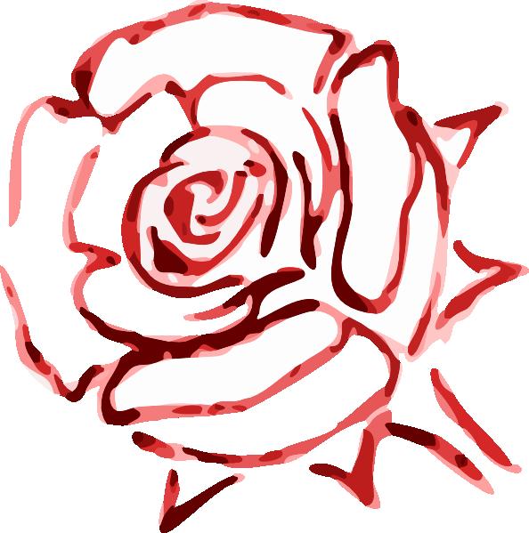 Rose Outline Clip Art at Clker.com - vector clip art ...
