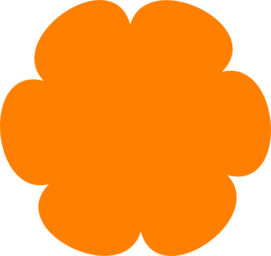 Orange Flower 4 Clip Art