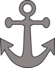 Gray Anchor Clip Art