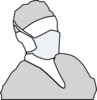 Doctor Mask Grey Clip Art