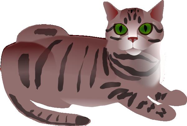 Tabby Cat Clip Art at Clker.com - vector clip art online, royalty free ...