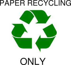 Paper Recycle Symbol Clip Art