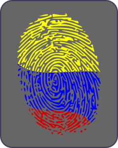 Columbian Flag Fingerprint Clip Art