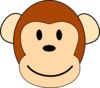 Dan Brown Monkey Large Clip Art