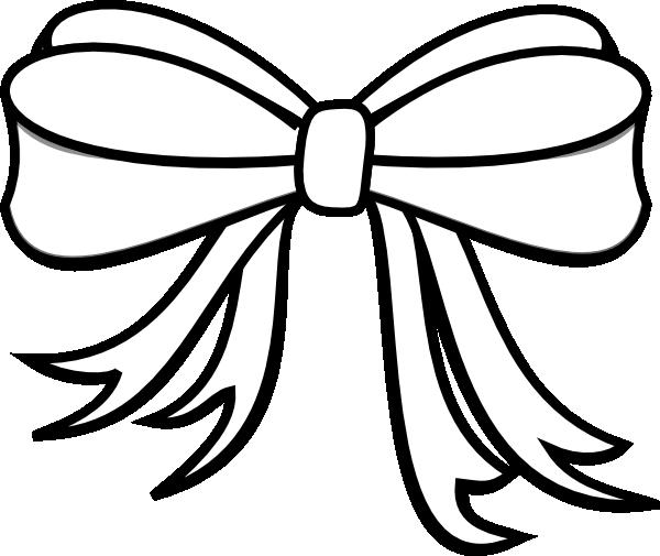 Gift Bow Clip Art Black And White Presen...