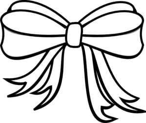 Gift Wrapping Bow Coloring Page
