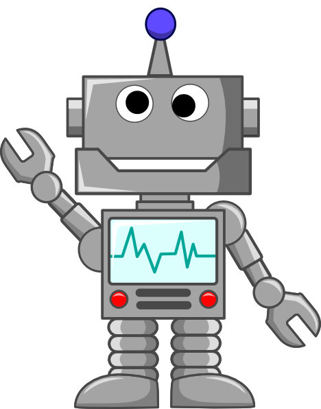 Robot Waving Clip Art At Clker Com Vector Clip Art Online Royalty