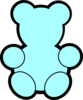 Blue Teddy Bear Clip Art