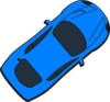 Blue Car - Top View - 40 Clip Art