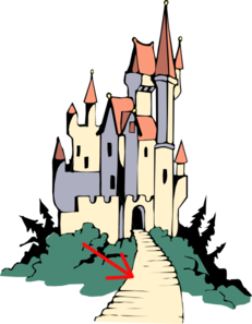 Path To Castle Clip Art