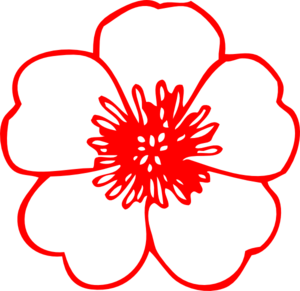 Red Buttercup Flower Clip Art