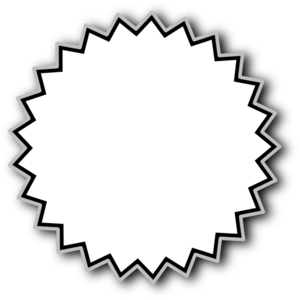 Starburst Outline Baseline Clip Art
