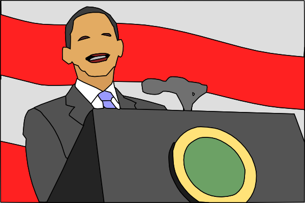 presidential seal clipart. President Giving Speech clip