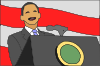 President Giving Speech Clip Art