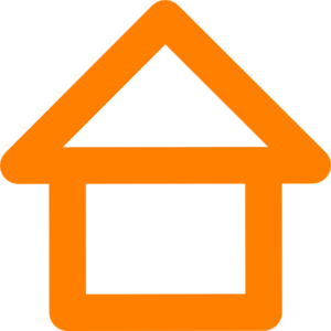 Orange House Outline Clip Art
