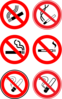 No Smoking Signs Collection Clip Art