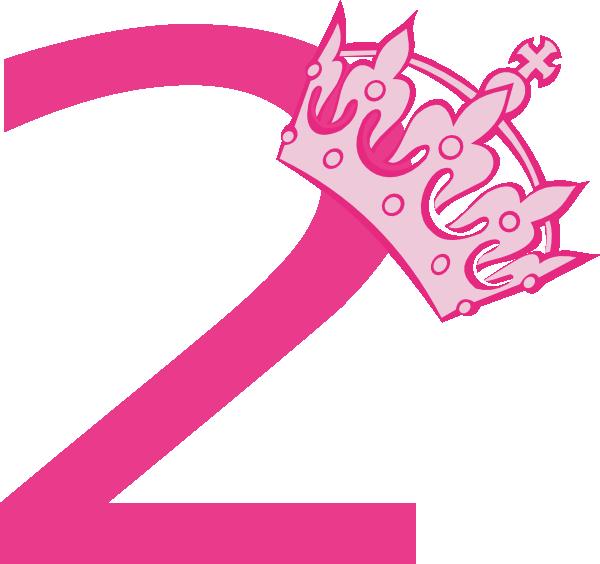 2nd Birthday Pink Tiara Clip Art at Clker.com - vector ...