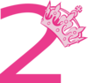 2nd Birthday Pink Tiara Clip Art