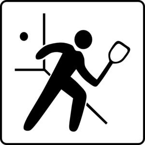 Hotel Icon Has Raquetball Court Clip Art