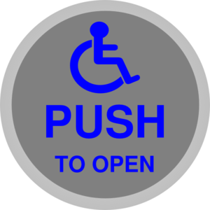 Handicapped Button Clip Art