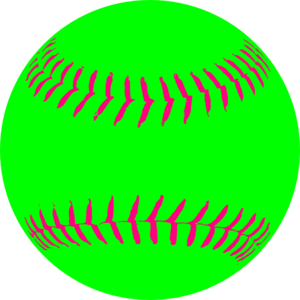 Green Softball Clip Art