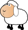 Sheep With A Colored Face Clip Art