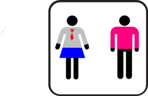 Gender Non-confining Bathroom People Clip Art