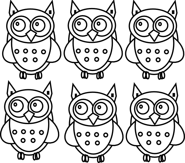 Coloring Book Owls Clip Art At Clker