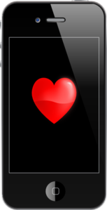 Iphone With Heart Clip Art
