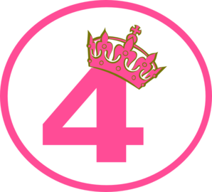 Pink Tilted Tiara And 4 Clip Art