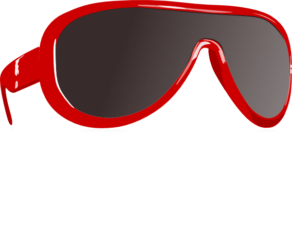 Clip Art Sunglasses. Red Sunglasses clip art