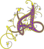 A Celtic (purple And Gold) Clip Art