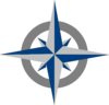 Compass Rose - Blue And Grey New Clip Art