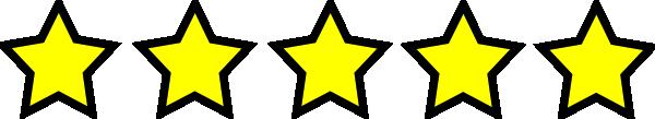 five stars clip art at clker com vector clip art online royalty rh clker com five point star clipart Clip Art Five Stars Grey