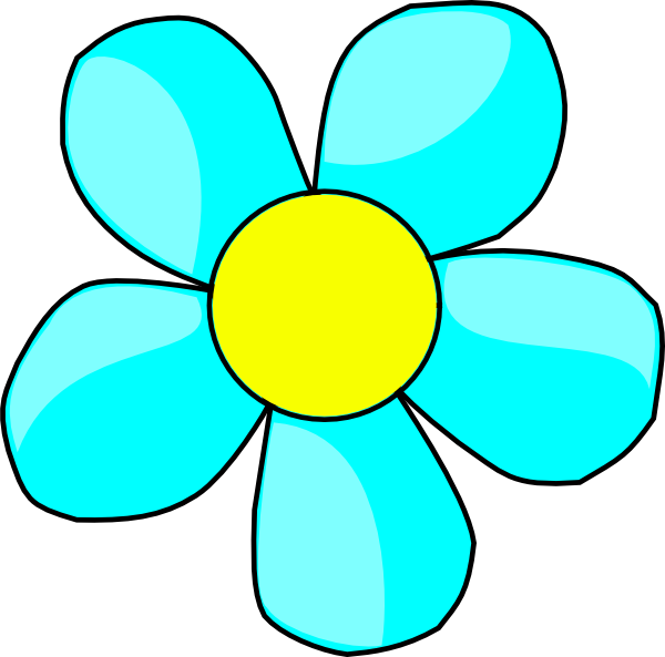 sky blue flower clip art at clker com vector clip art online rh clker com blue flower border clipart blue flower clipart free