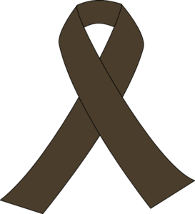 Brown Awareness Ribbon Clip Art