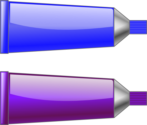 Color Tube Blue Purple Clip Art At Vector Clip