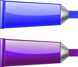 Color Tube Blue Purple Clip Art