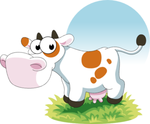 Cartoon Cow Clip Art at Clker.com - vector clip art online ...