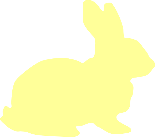 Yellow Bunny Silhouette Clip Art At Clker Com Vector