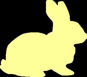 Yellow Bunny Silhouette Clip Art